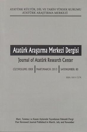 Atatürk Araştırma Merkezi Dergisi Sayı: 85, 2014