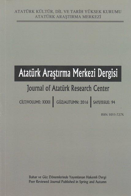 Atatürk Araştırma Merkezi Dergisi Sayı: 94, 2017