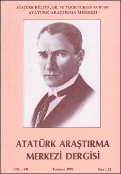 Atatürk Araştırma Merkezi Dergisi, Temmuz 1991 , Sayı: 21, 1991