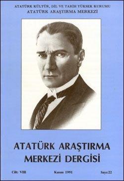 Atatürk Araştırma Merkezi Dergisi, Kasım 1991 , Sayı: 22, 1992