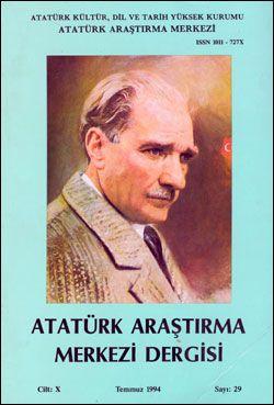 Atatürk Araştırma Merkezi Dergisi, Temmuz 1994 , Sayı: 29, 1995