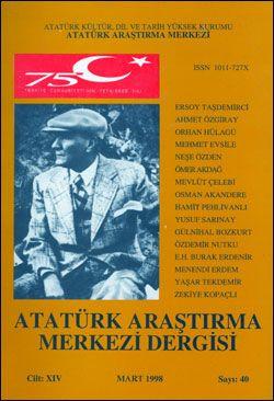 Atatürk Araştırma Merkezi Dergisi, Mart 1998 , Sayı: 40, 1998
