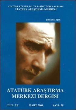 Atatürk Araştırma Merkezi Dergisi, Mart 2004 ,Sayı: 58, 2005