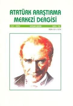 Atatürk Araştırma Merkezi Dergisi, Kasım 2008 ,Sayı: 72, 2010
