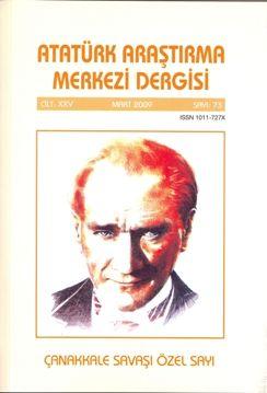 Atatürk Araştırma Merkezi Dergisi, Mart 2009 ,Sayı:73, 2010