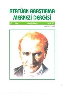 Atatürk Araştırma Merkezi Dergisi, Kasım 2009 ,Sayı:75, 2011
