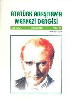 Atatürk Araştırma Merkezi Dergisi, 2010 ,Sayı:78, 2011