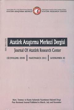 Atatürk Araştırma Merkezi Dergisi, 2012 ,Sayı:82, 2012
