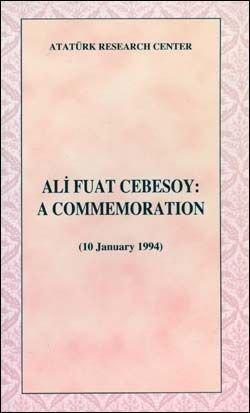 Ali Fuat Cebesoy: A Commemoration (10 January 1994), 1999