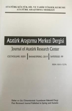 Atatürk Araştırma Dergisi Sayı: 99, 2019