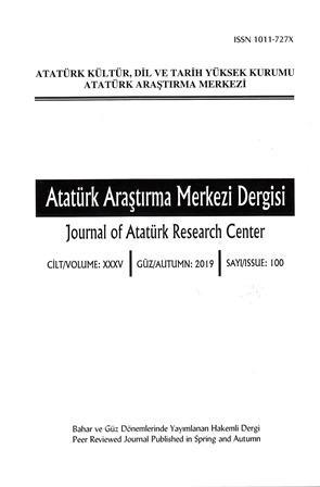 Atatürk Araştırma Merkezi Dergisi 100. Sayı, 2019