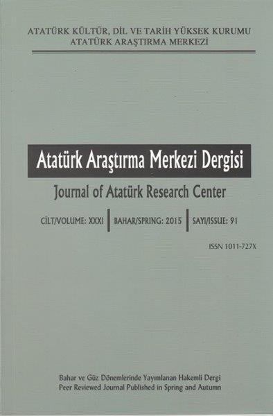Atatürk Araştırma Merkezi Dergisi Sayı: 91, 2016