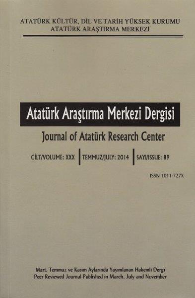 Atatürk Araştırma Merkezi Dergisi Sayı: 89, 2016