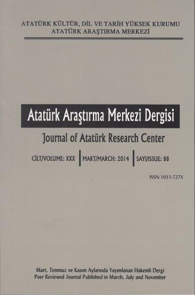 Atatürk Araştırma Merkezi Dergisi Sayı: 88, 2015
