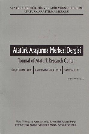 Atatürk Araştırma Merkezi Dergisi Sayı: 87, 2015