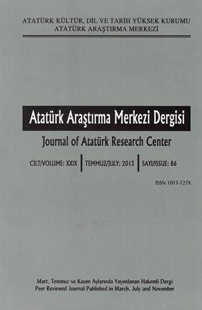 Atatürk Araştırma Merkezi Dergisi Sayı: 86, 2014