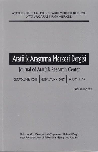 Atatürk Araştırma Merkezi Dergisi Sayı: 96, 2017
