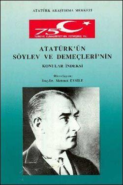 Atatürk'ün Söylev ve Demeçleri'nin Konular İndeksi, 1999