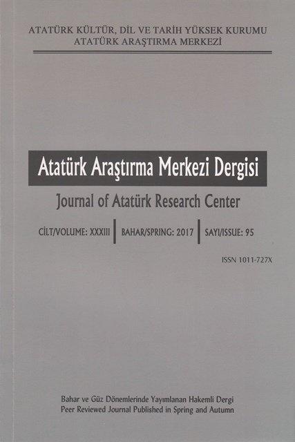 Atatürk Araştırma Merkezi Dergisi Sayı:95, 2017