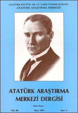Atatürk Araştırma Merkezi Dergisi, Mart 1987 , Sayı: 8, 1987