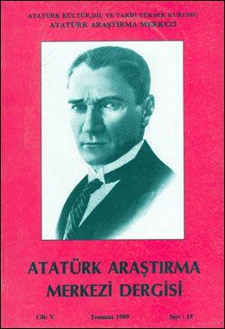 Atatürk Araştırma Merkezi Dergisi, Temmuz 1989 , Sayı: 15, 1989