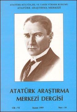 Atatürk Araştırma Merkezi Dergisi, Kasım 1989 , Sayı: 16, 1990