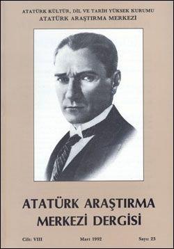 Atatürk Araştırma Merkezi Dergisi, Mart 1992 , Sayı: 23, 1992