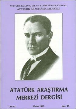 Atatürk Araştırma Merkezi Dergisi, Kasım 1992 , Sayı: 25, 1993