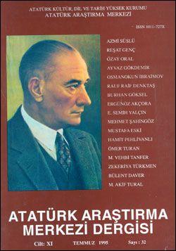 Atatürk Araştırma Merkezi Dergisi, Temmuz 1995 , Sayı: 32, 1996