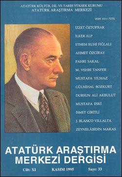 Atatürk Araştırma Merkezi Dergisi, Kasım 1995 , Sayı: 33, 1996