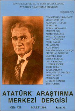 Atatürk Araştırma Merkezi Dergisi, Mart 1996 , Sayı: 34, 1996