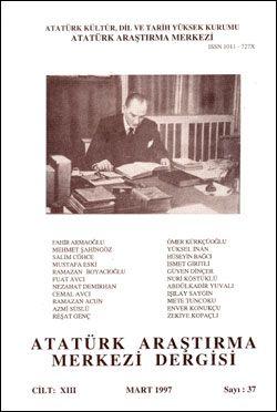Atatürk Araştırma Merkezi Dergisi, Mart 1997 , Sayı: 37, 1997