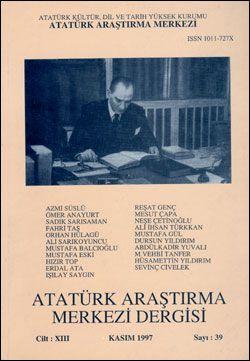 Atatürk Araştırma Merkezi Dergisi, Kasım 1997 , Sayı: 39, 1998
