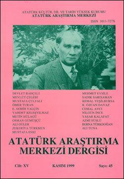 Atatürk Araştırma Merkezi Dergisi, Kasım 1999 , Sayı: 45, 2000