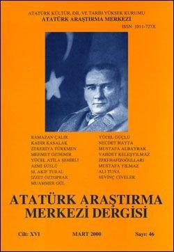 Atatürk Araştırma Merkezi Dergisi, Mart 2000 , Sayı: 46, 2000