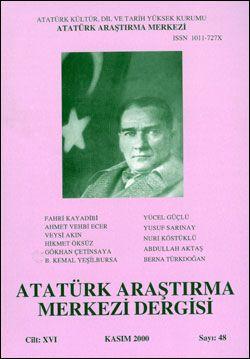 Atatürk Araştırma Merkezi Dergisi, Kasım 2000 , Sayı: 48, 2000