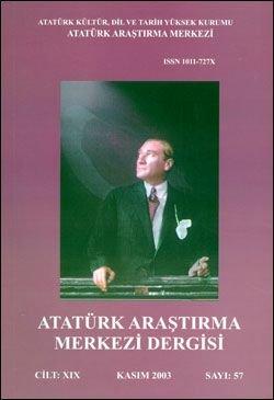 Atatürk Araştırma Merkezi Dergisi, Kasım 2003 ,Sayı: 57, 2004