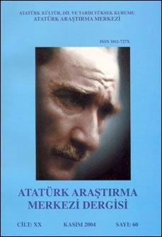 Atatürk Araştırma Merkezi Dergisi, Kasım 2004 ,Sayı: 60, 2005