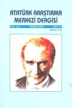 Atatürk Araştırma Merkezi Dergisi, Temmuz 2008 ,Sayı 71, 2009