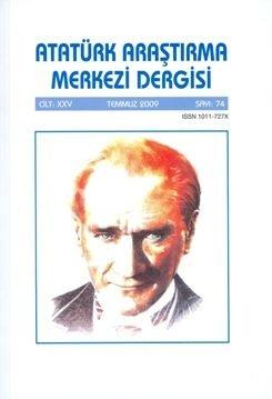 Atatürk Araştırma Merkezi Dergisi, Temmuz 2009 ,Sayı:74, 2010