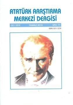 Atatürk Araştırma Merkezi Dergisi, Temmuz 2010 ,Sayı:77, 2011