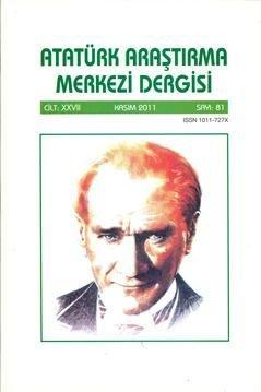 Atatürk Araştırma Merkezi Dergisi, 2011 ,Sayı:81, 2012