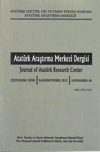 Atatürk Araştırma Merkezi Dergisi, 2012 ,Sayı:83, 2013