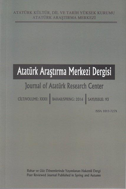 Atatürk Araştırma Merkezi Dergisi Sayı:93, 2017