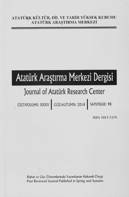 Atatürk Araştırma Merkezi Dergisi Sayı: 98, 2018