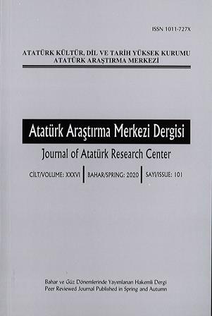 Atatürk Araştırma Merkezi Dergisi 101. Sayı, 2020