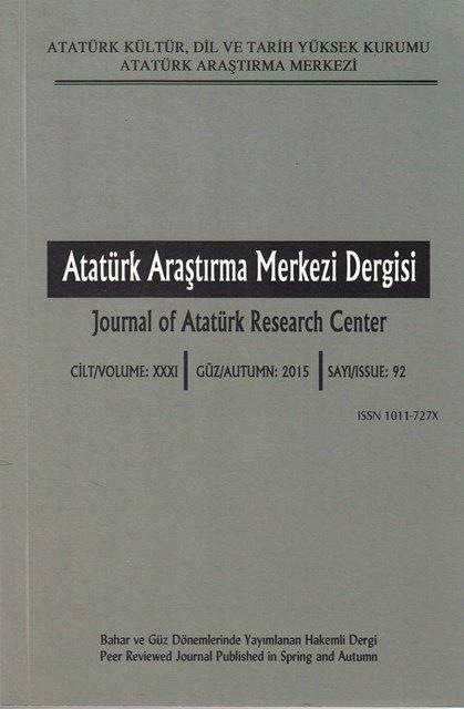 Atatürk Araştırma Merkezi Dergisi Sayı:92, 2016