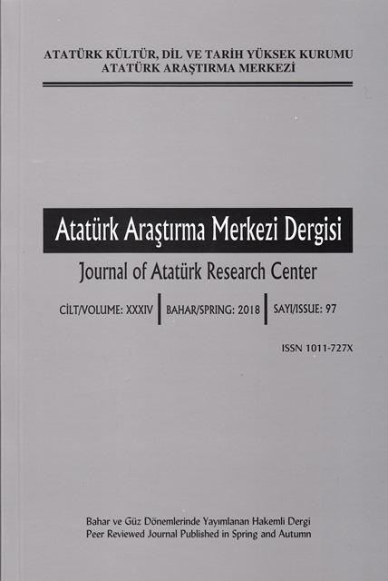 Atatürk Araştırma Merkezi Dergisi Sayı:97, 2018
