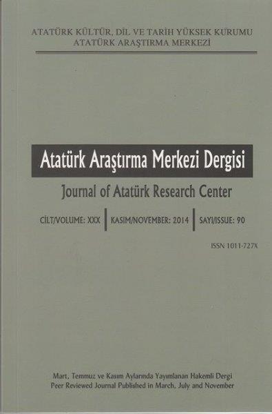 Atatürk Araştırma Merkezi Dergisi Sayı: 90, 2016